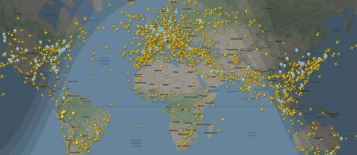 Flightradar24 Karte